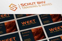 Schut BHV Logo En Visitekaartje Ontwerp
