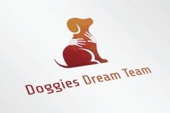 Doggies Dream Team Logo Ontwerp