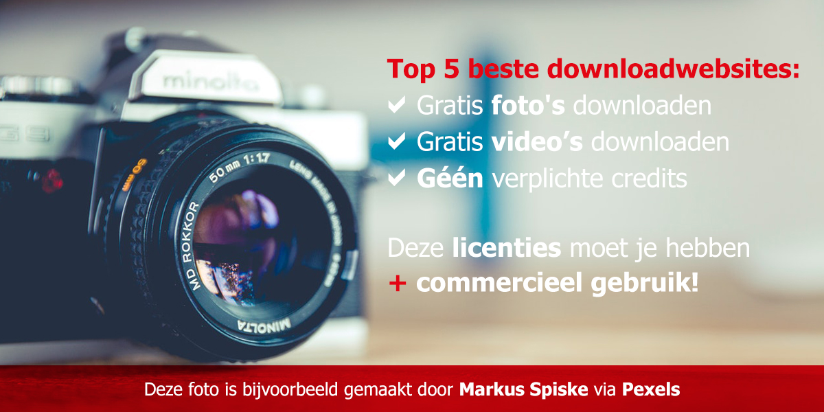 gratis foto's downloaden CC0 licentie websites
